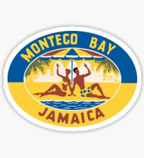 Montego Bay Jamaica Vintage Travel Decal Sticker