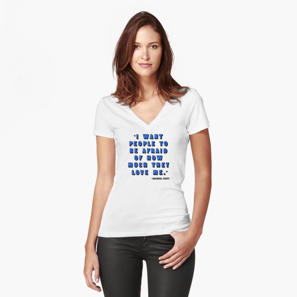 Custom for B -  Michael Scott Quote1 Fitted V-Neck T-Shirt
