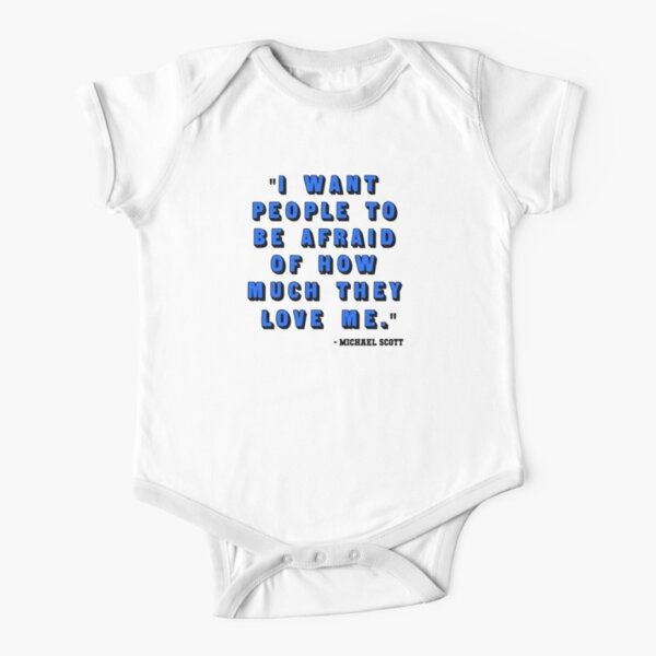 Custom for B -  Michael Scott Quote1 Short Sleeve Baby One-Piece