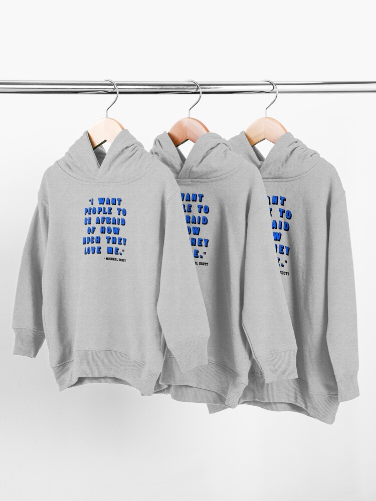 Alternate view of Custom for B -  Michael Scott Quote1 Toddler Pullover Hoodie