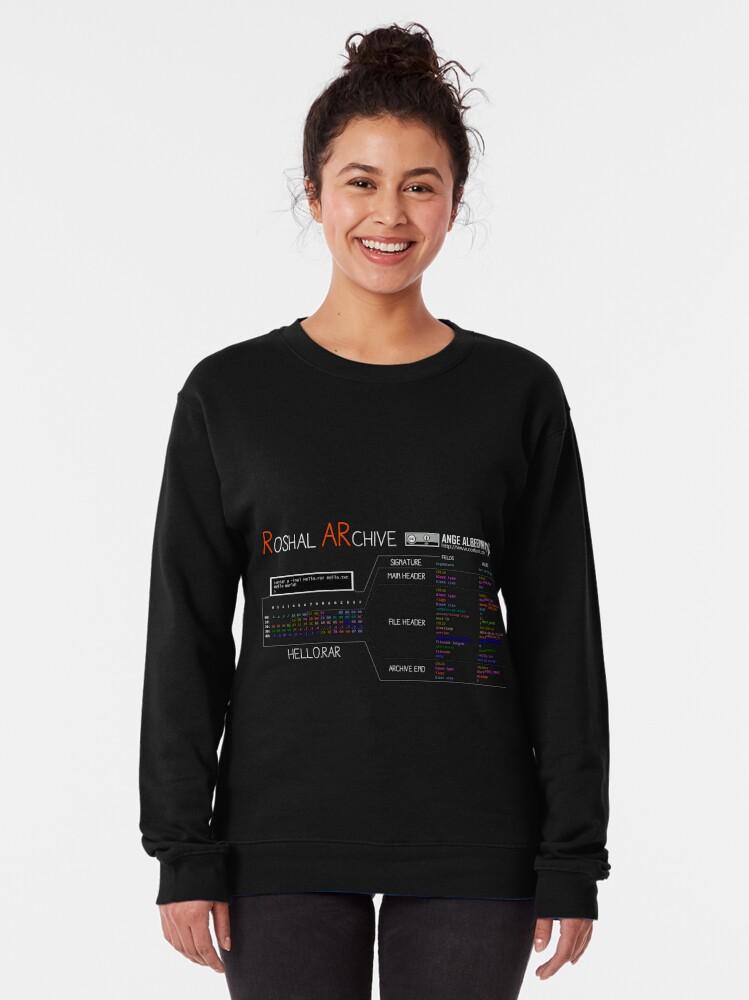 Alternate view of a mini RAR (white text) Pullover Sweatshirt