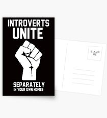 Introverts unite separately in your own homes Postkarten