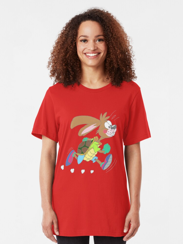 Alternate view of Hare or tortoise Slim Fit T-Shirt
