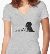 Camiseta entallada de cuello en V Evolución Lovecraftian