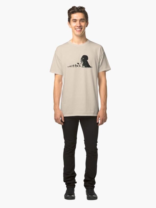 Alternative Ansicht von Lovecrafts Evolution Classic T-Shirt