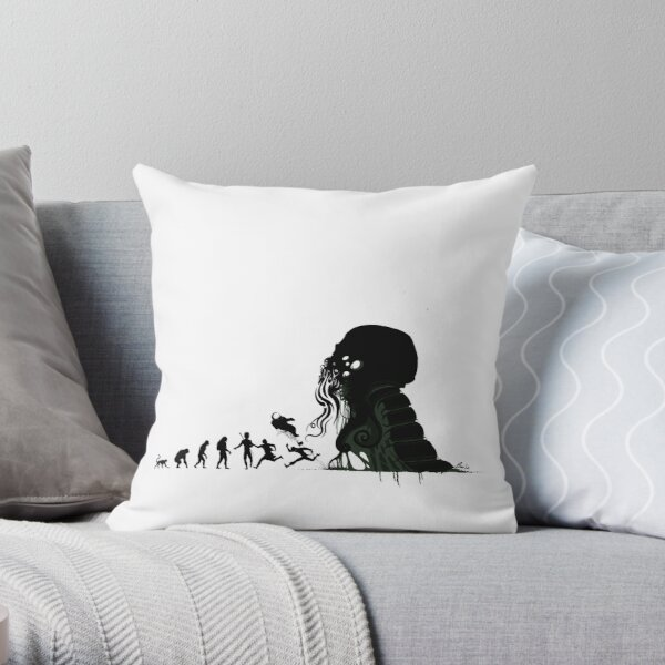 Lovecraftian Evolution Throw Pillow