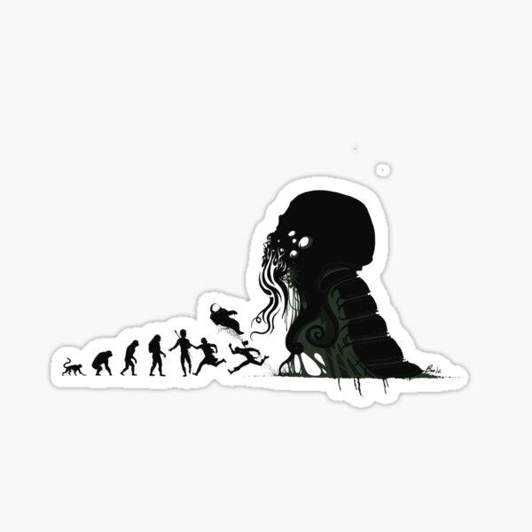 Lovecraftian Evolution Sticker