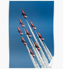 Red Arrows - Diamond Roll Poster