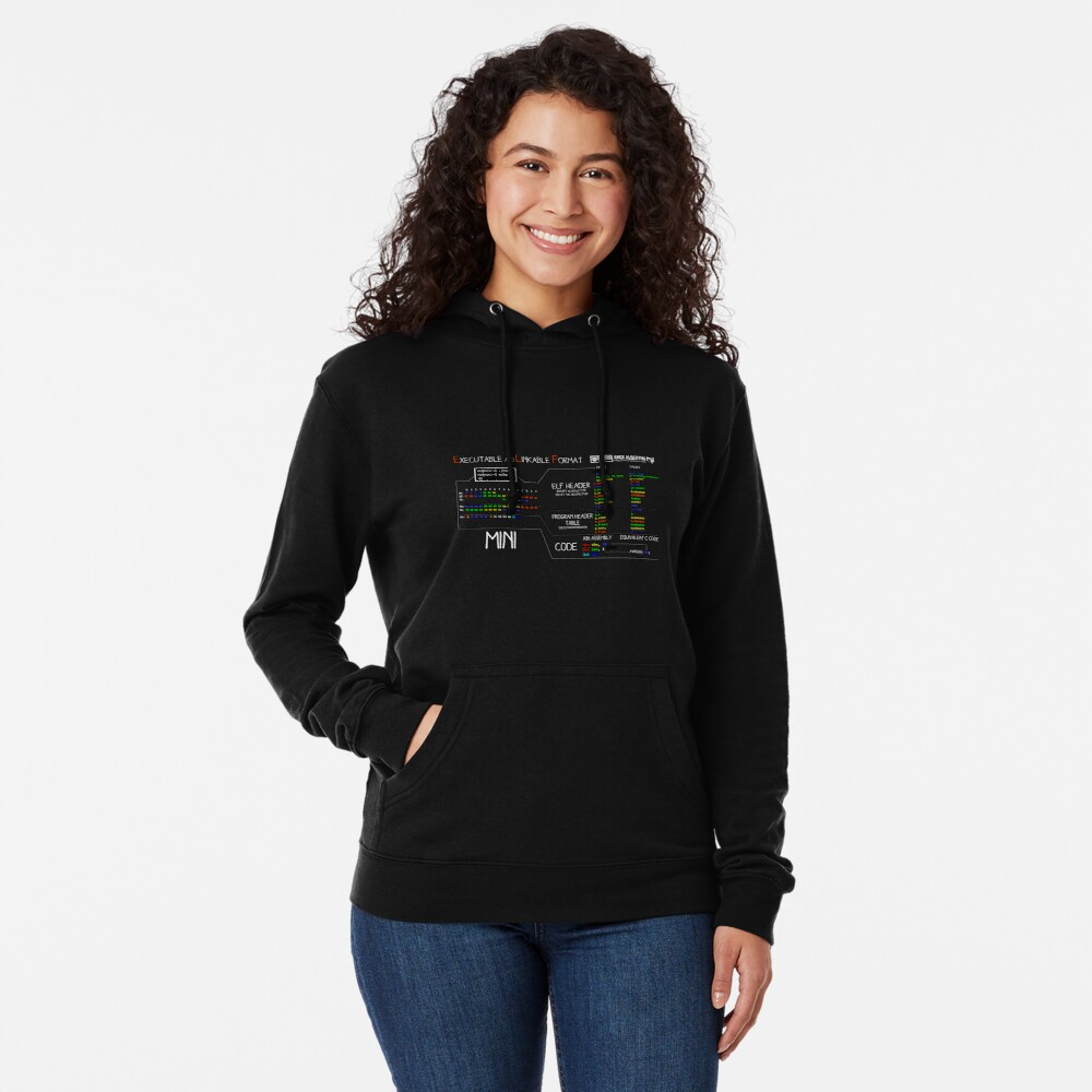 a mini ELF (white text) Lightweight Hoodie