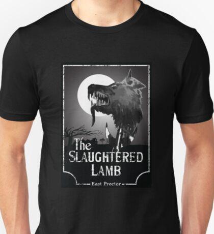 Amerikanischer Werwolf in London - das geschlachtete Lamm B & W T-Shirt