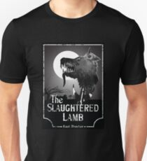 American Werewolf In London - The Slaughtered Lamb B&W T-Shirt