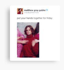 Matthew Gray Gubler Tweets Metal Print