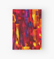 Ripped Pieces on Fire - Abstract Expressionist Digital Painting Hardcover Journal