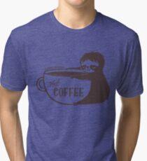 Sleepy Sloths Need Coffee  Tri-blend T-Shirt