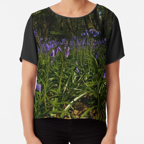 Bluebells in Prehen Woods Chiffon Top