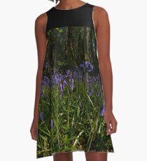 Bluebells in Prehen Woods A-Line Dress
