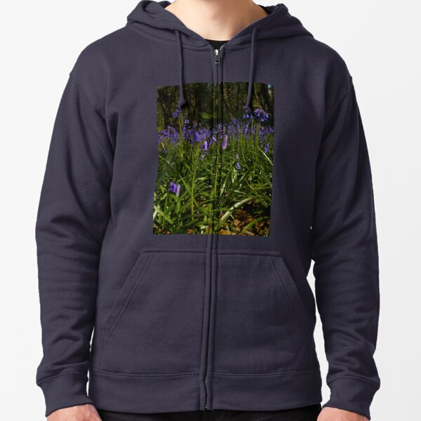 Bluebells in Prehen Woods Zipped Hoodie