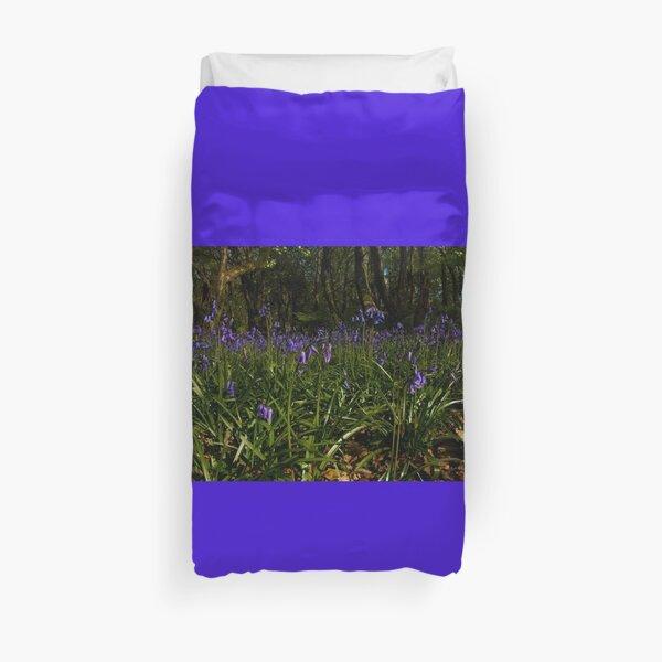 Bluebells in Prehen Woods Duvet Cover