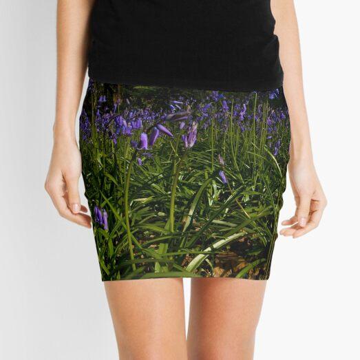 Bluebells in Prehen Woods Mini Skirt