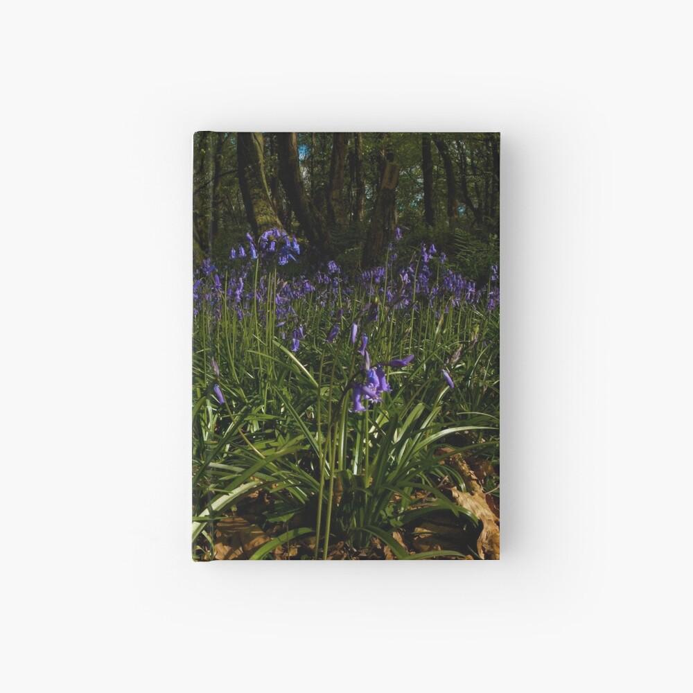 Bluebells in Prehen Woods Hardcover Journal