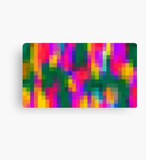 pink blue green orange yellow and purple pixel background Canvas Print