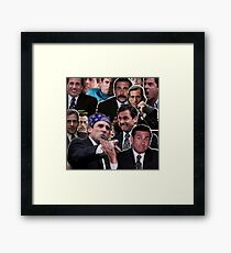 The Office Michael Scott - Steve Carell Framed Print