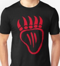Native American Bear Foot Red T-Shirt