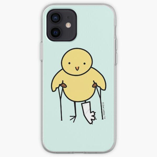 Pájaro con pierna rota Funda blanda para iPhone