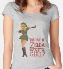 What if Zelda was a girl? (it's a joke) Women's Fitted Scoop T-Shirt