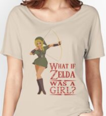What if Zelda was a girl? (it's a joke) Women's Relaxed Fit T-Shirt