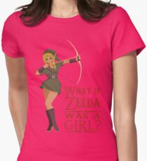 What if Zelda was a girl? (it's a joke) Womens Fitted T-Shirt
