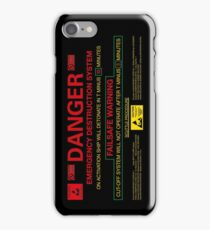 EMERGENCY DESTRUCTION SYSTEM - iPhone iPhone Case/Skin