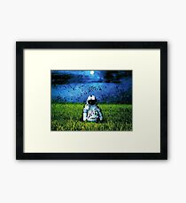Deja Entendu (Blue) Framed Print