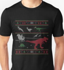 Dinosaur Xmas Sweater T-Shirt