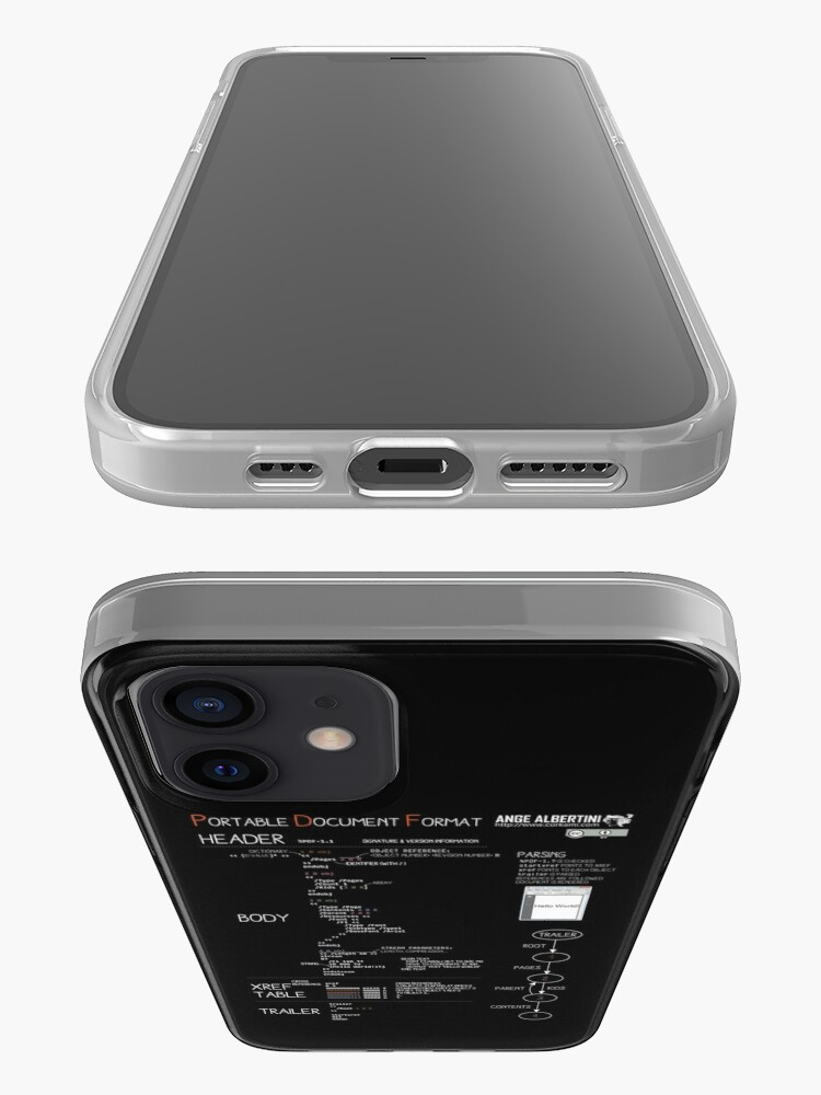 Alternate view of a mini PDF (white text) iPhone Case & Cover