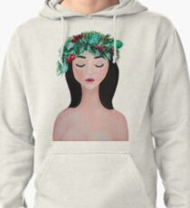 Laurel - christmas wreath crown Pullover Hoodie