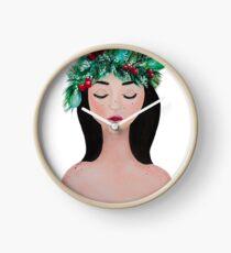 Laurel - christmas wreath crown Clock