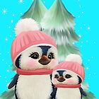 Cute Little Girl Penguins by LoneAngel