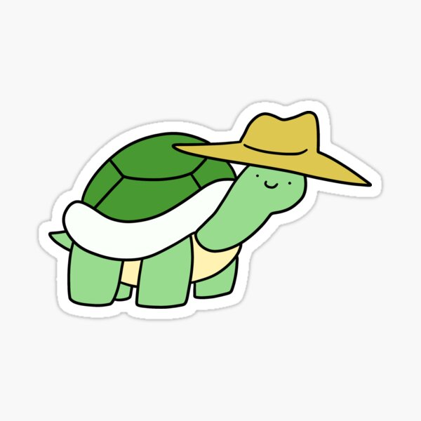 Cowboy Hat Turtle Sticker