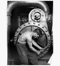 Power House Mechanic 1920 - Lewis Hine  Poster