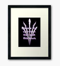 Warriors purple team Framed Print