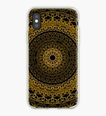 Black and Gold Mandala iPhone Case