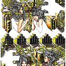 Aztec Island Girls by serenekitchen