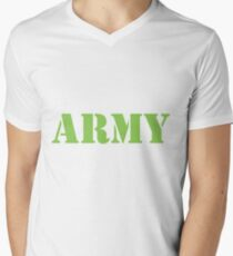 Army Men's V-Neck T-Shirt