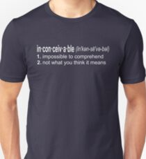 Inconceivable - The Princess Bride Quote T-Shirt