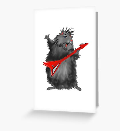 Rockin' Rodent Greeting Card