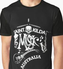 St.kilda Music Australia Black Graphic T-Shirt