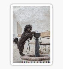 Drinking Dog Sticker