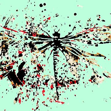Dragonfly - Abstract Ink by WishingInkwell