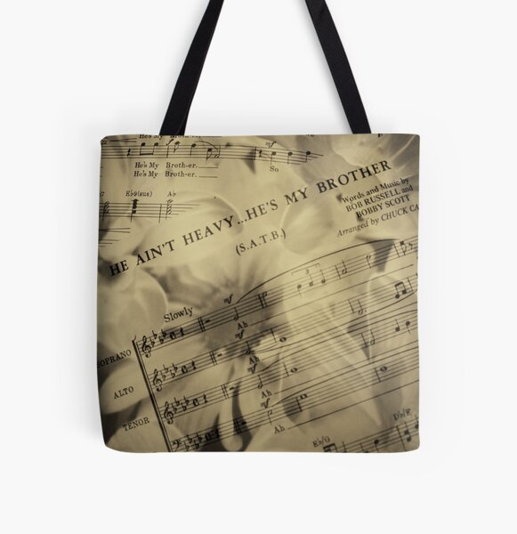 """""""He Ain't Heavy..."""" All Over Print Tote Bag"""